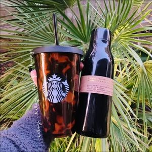 NEW Starbucks Tortoise Cup & Black Thermal Duo